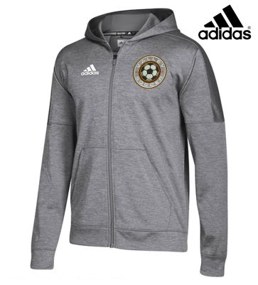 WDM Valley Girls Soccer Holiday Adidas Team Issue Women's Full Zip Performance Jacket (runs small)-Grey