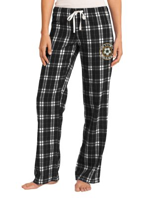 WDM Valley Girls Soccer Holiday District Women's Flannel Plaid Pant-Black