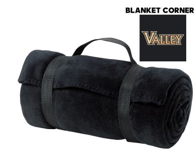 WDM Valley Girls Soccer Holiday Port Authority Value Fleece Blanket with Strap-Black