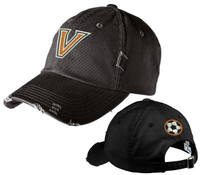 WDM Valley Girls Soccer Holiday District Distressed Cap-Black