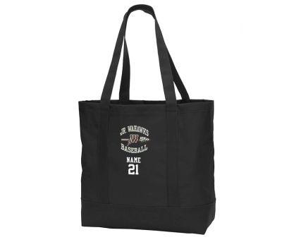 Jr. Warhawks Baseball Port Authority Day Tote-Black/Black