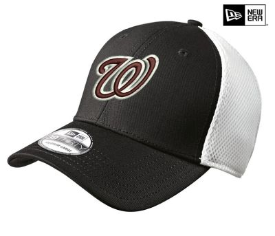 Jr. Warhawks Baseball New Era Stretch Mesh Cap-Black/White