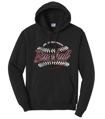 Jr. Warhawks Baseball Unisex Basic Hooded Sweatshirt-Black