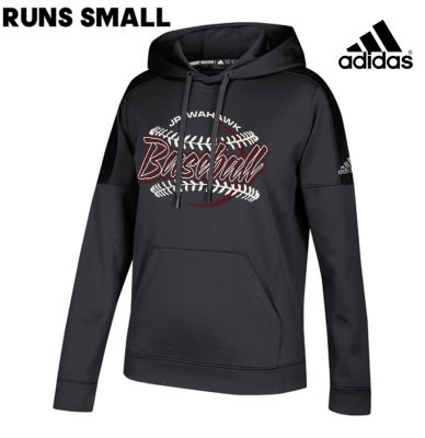 Jr. Warhawks Baseball Adidas Women's Team Issue Hood (runs small)-Black