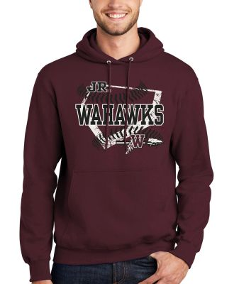 Jr. Warhawks Baseball Unisex Basic Hooded Sweatshirt-Maroon