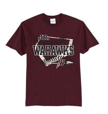 Jr. Warhawks Baseball Unisex Basic Short Sleeve Tee-Maroon