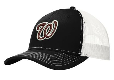 Jr. Warhawks Baseball Port and Company Snapback Trucker Cap-Black/White