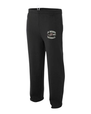 Jr. Warhawks Baseball Open Bottom Pocketed Fleece Pant-Black