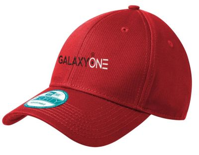 K: Galaxy One New Era Red Adjustable Structured Cap-TECHNICIAN FIELD APPROVED