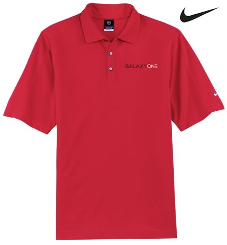 Galaxy One Nike Dry Fit Red Pique II Polo-SALES