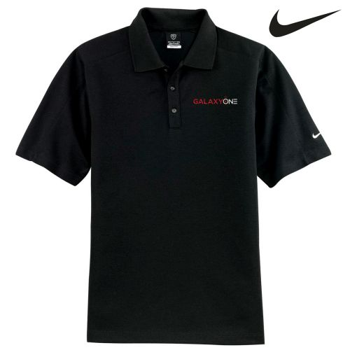 Galaxy One Nike Dry Fit Black Pique II Polo-SALES