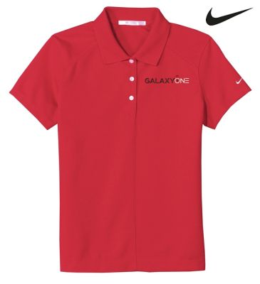 Galaxy One Nike Dry Fit Red LADIES Pique II Polo-SALES