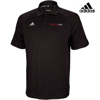 Galaxy One Adidas Select Black Mens Polo- SALES