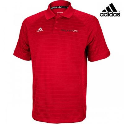 Galaxy One Adidas Select Power Red Mens Polo- SALES