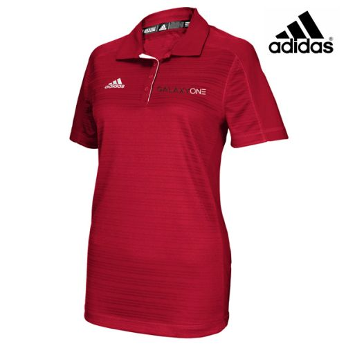 Galaxy one Adidas Climalite Womens Red Select Polo- SALES