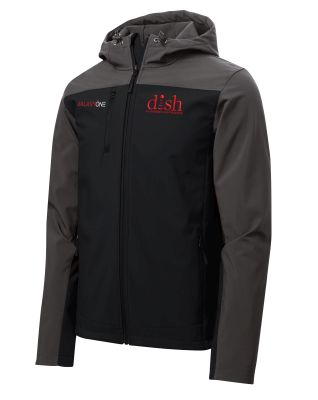 I: Galaxy One Hooded Core Soft Shell Jacket-BLACK/GREY- TECHNICIAN FIELD APPROVED