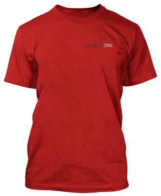 Galaxy One Staff Mens Short Sleeve T-Shirt-Red