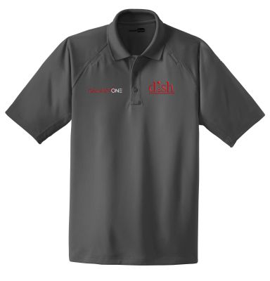 B: Galaxy One Charcoal Grey Performace Polo-FIELD TECHNICIAN APPROVED